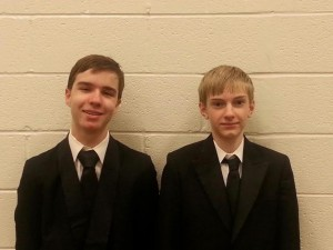 Pictured are Central High School Chorus students Caleb Williams and Elijah Green.