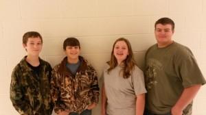 L:R Case Wilson, KC Geter, Kayla Ramage, and Caleb Thompson