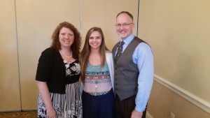 Whitney Rose Gann (pictured with her mother and father, Donna & Stacey Gann)