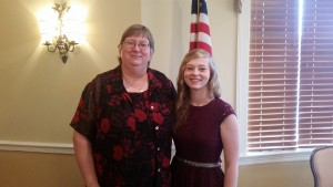 Valedictorian:  Julia Catherine McCormick (pictured with her mother, Barbara) Not pictured is her father, J.C. Julia plans to attend Jacksonville State University and major in Finance & Accounting.