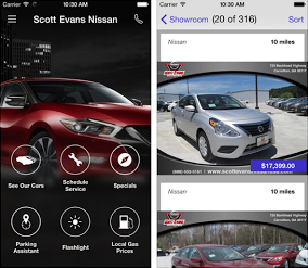 Scott Evans Nissan Is Now In The Palm Of Your Hand The City Menus