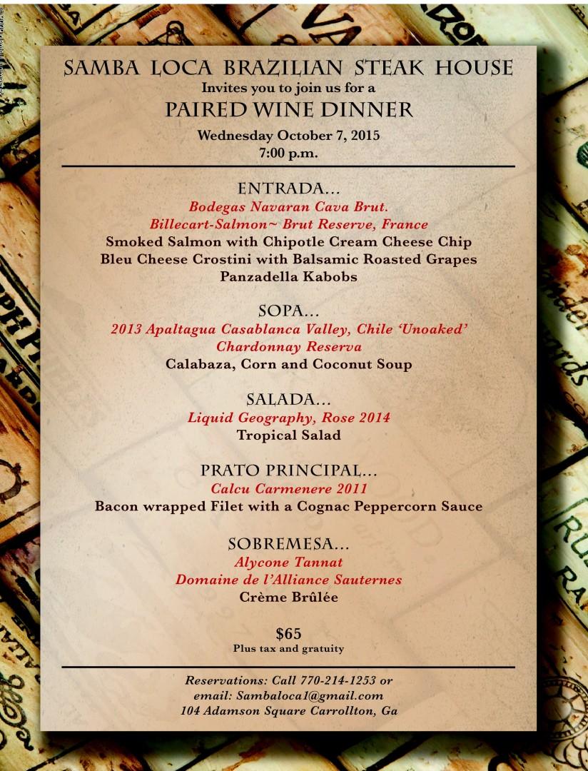 Wine dinner final