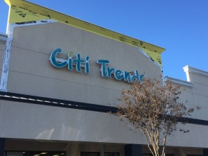 Citi Trends Sign Renovations At First Tuesday Mall