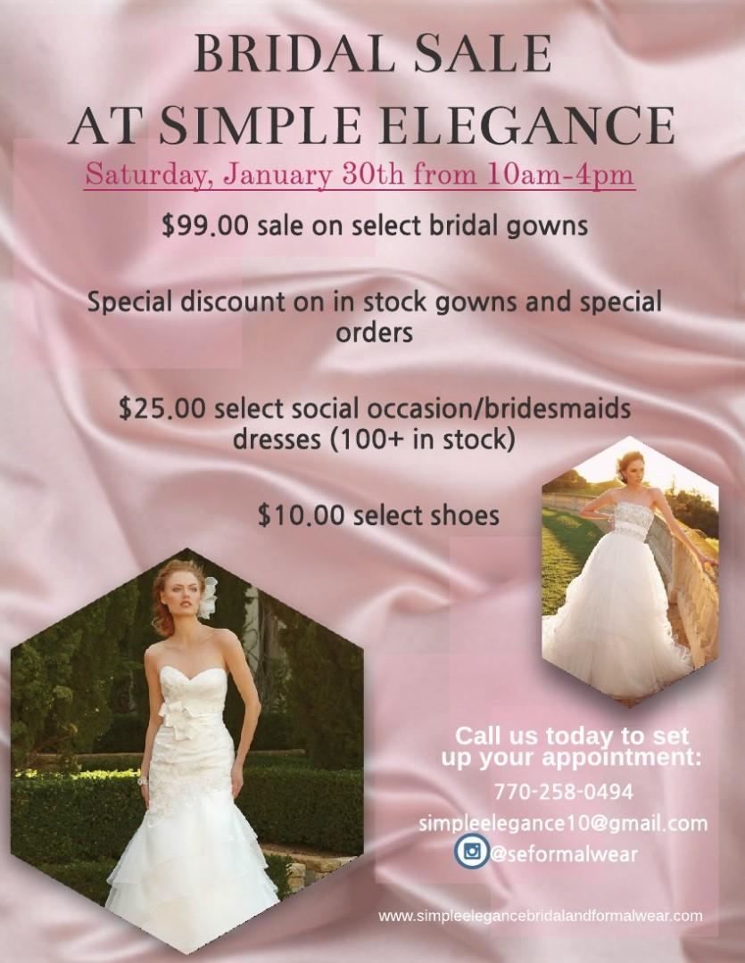 bridal sale picture