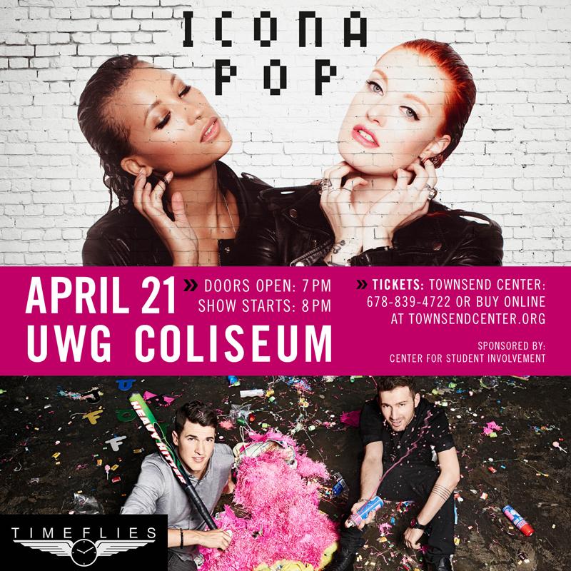 Icona Pop and Timeflies social media