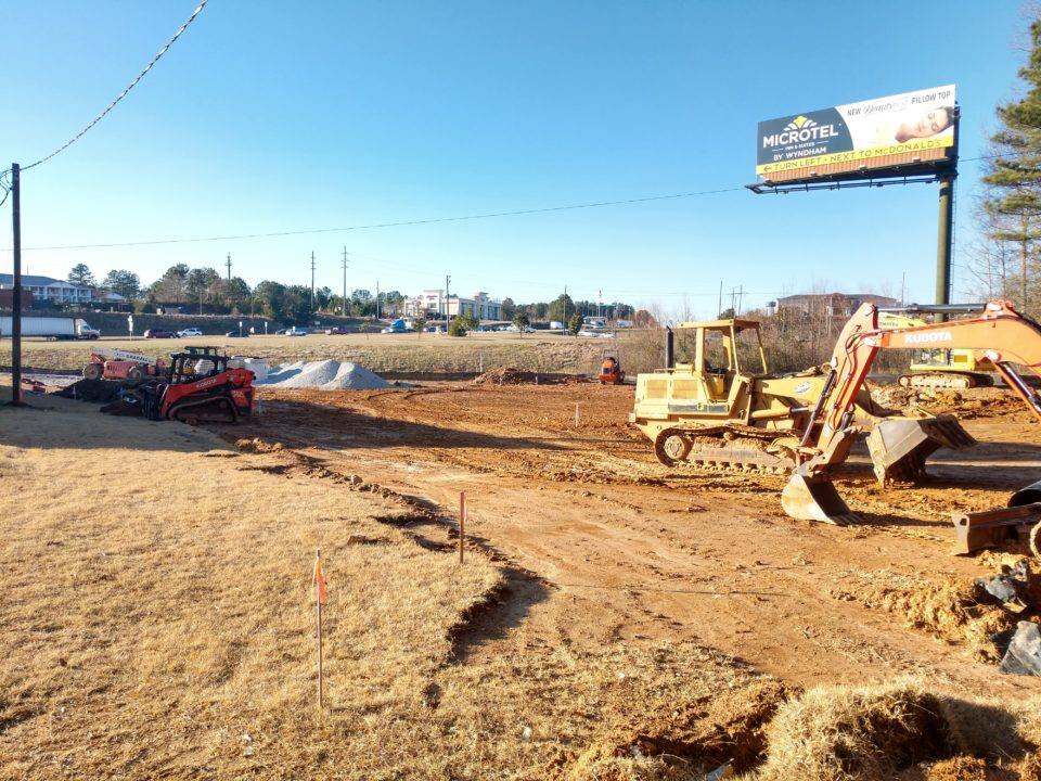 construction progress for popeye's louisiana kitchen in bremen georgia
