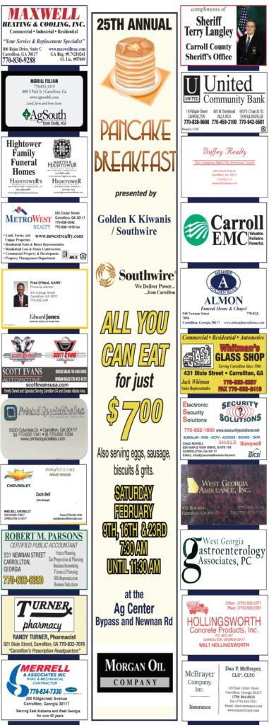 kiwanis breakfast newspaper ad