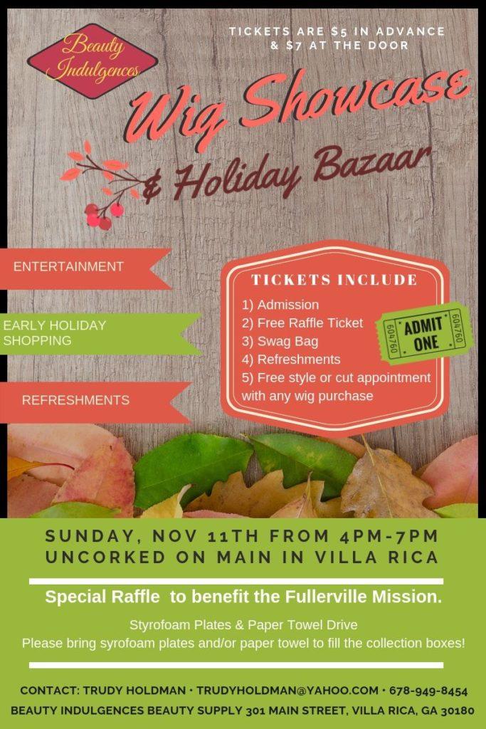 wig showcase and holiday bazaar