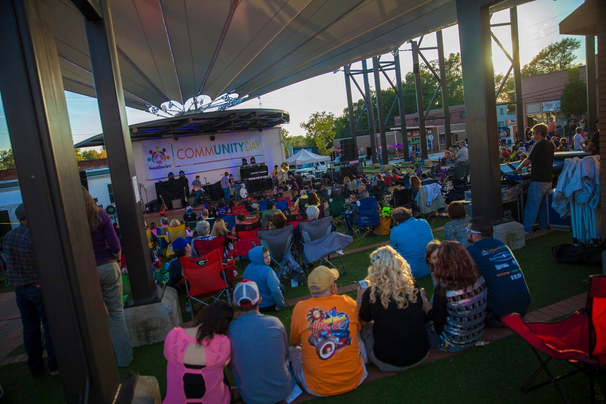 people at the amp for southwire community day